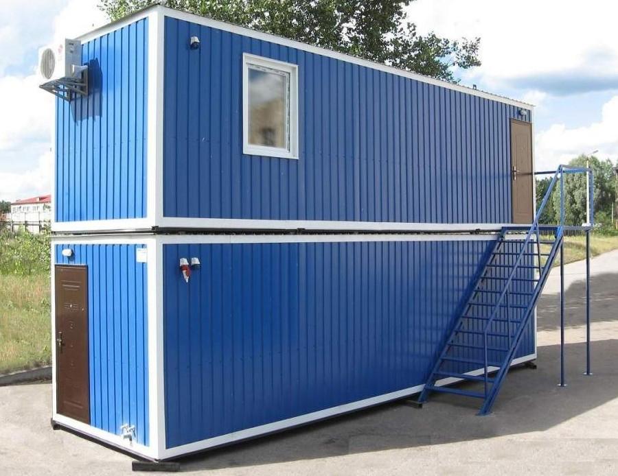 Модульное здание из металлических блок-контейнеров