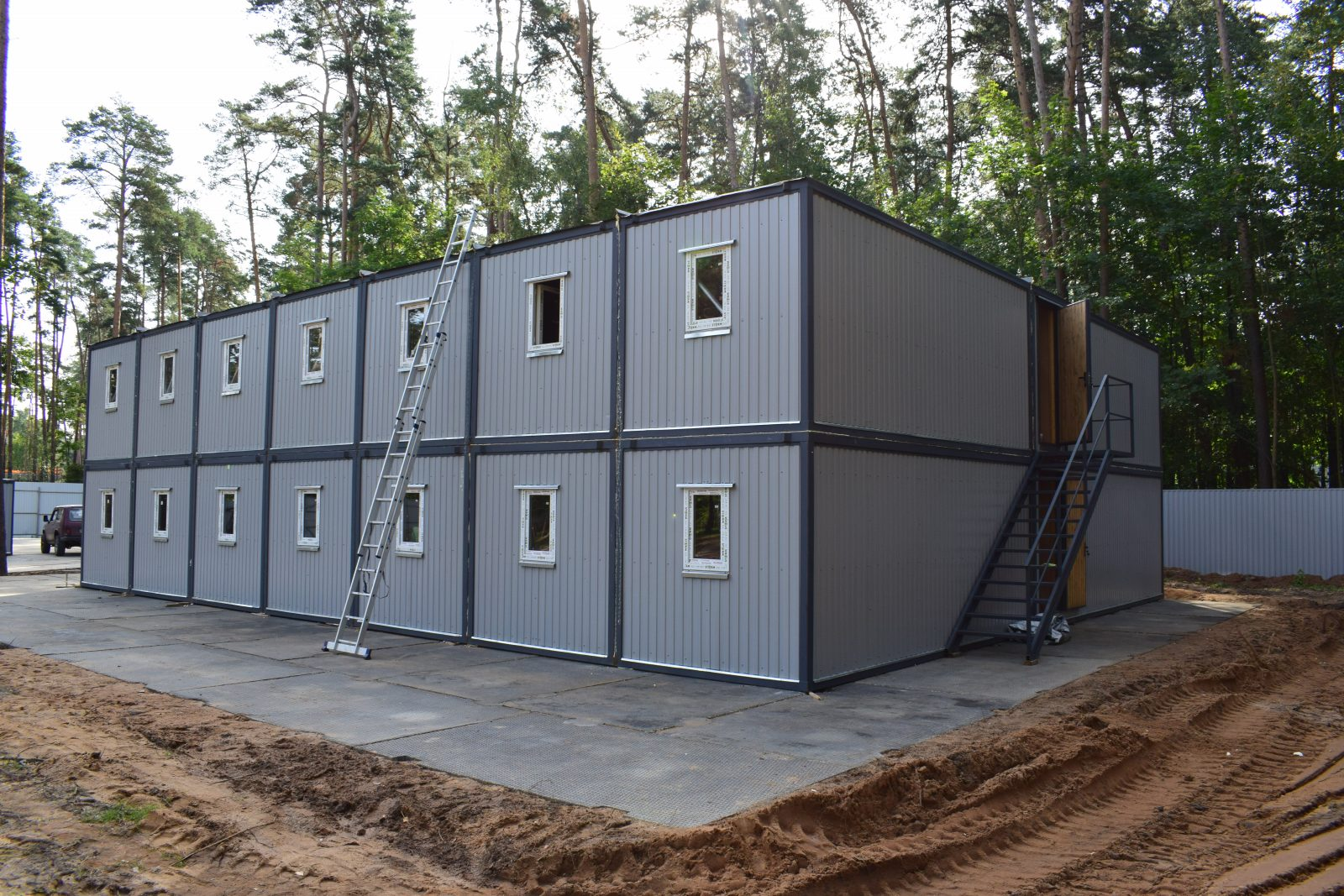 строительный городок из блок-контейнеров