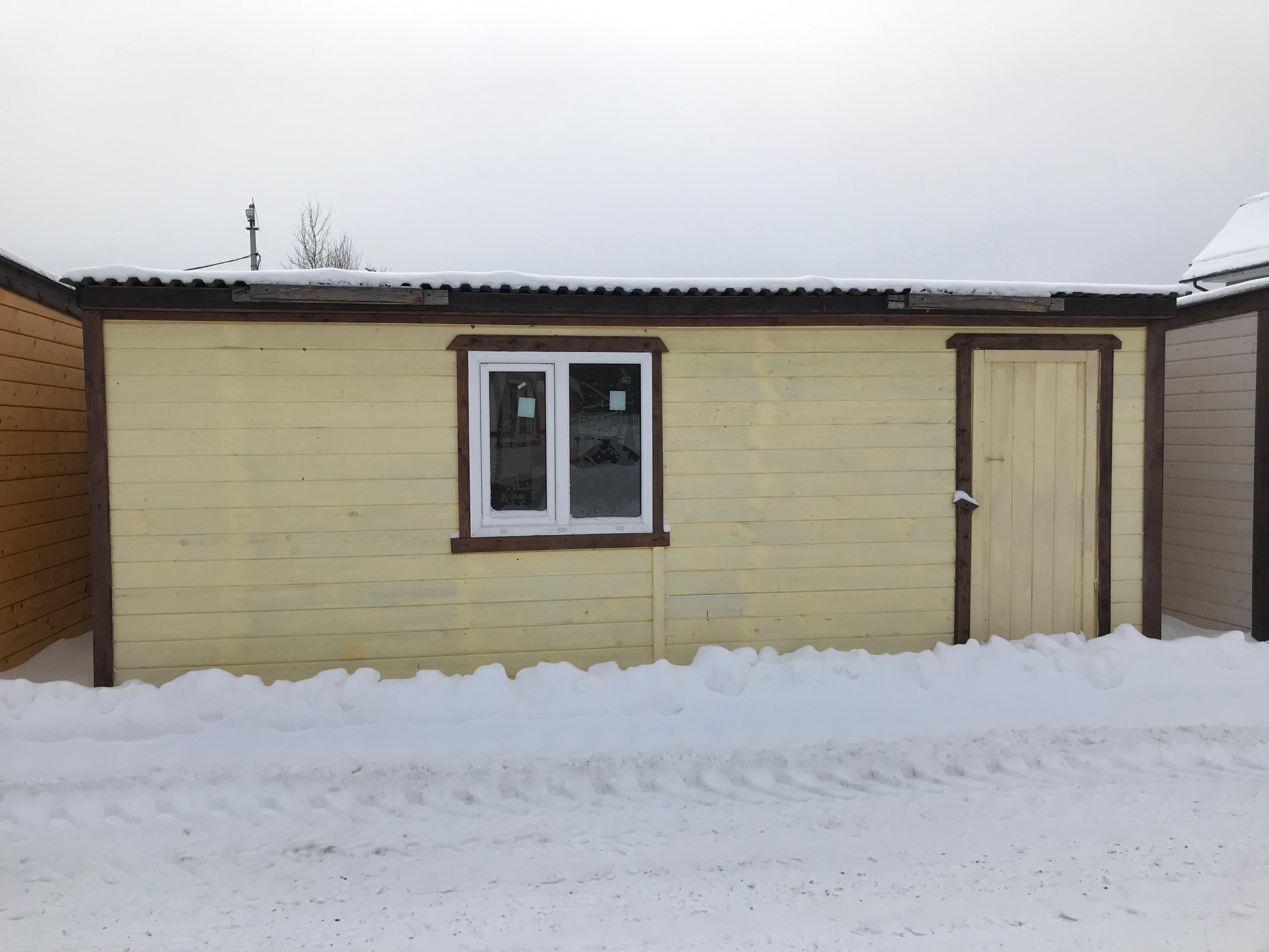 Деревянная бытовка для дачи БД-00 7x2,3 м