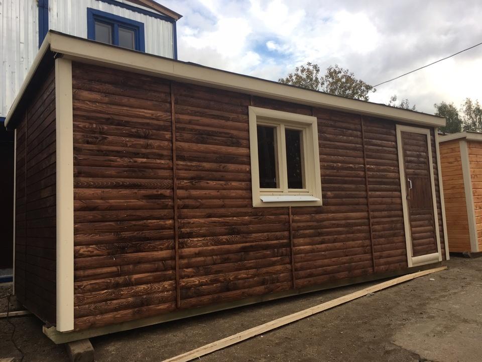 Дачная деревянная бытовка БД-00 8x2,3 м