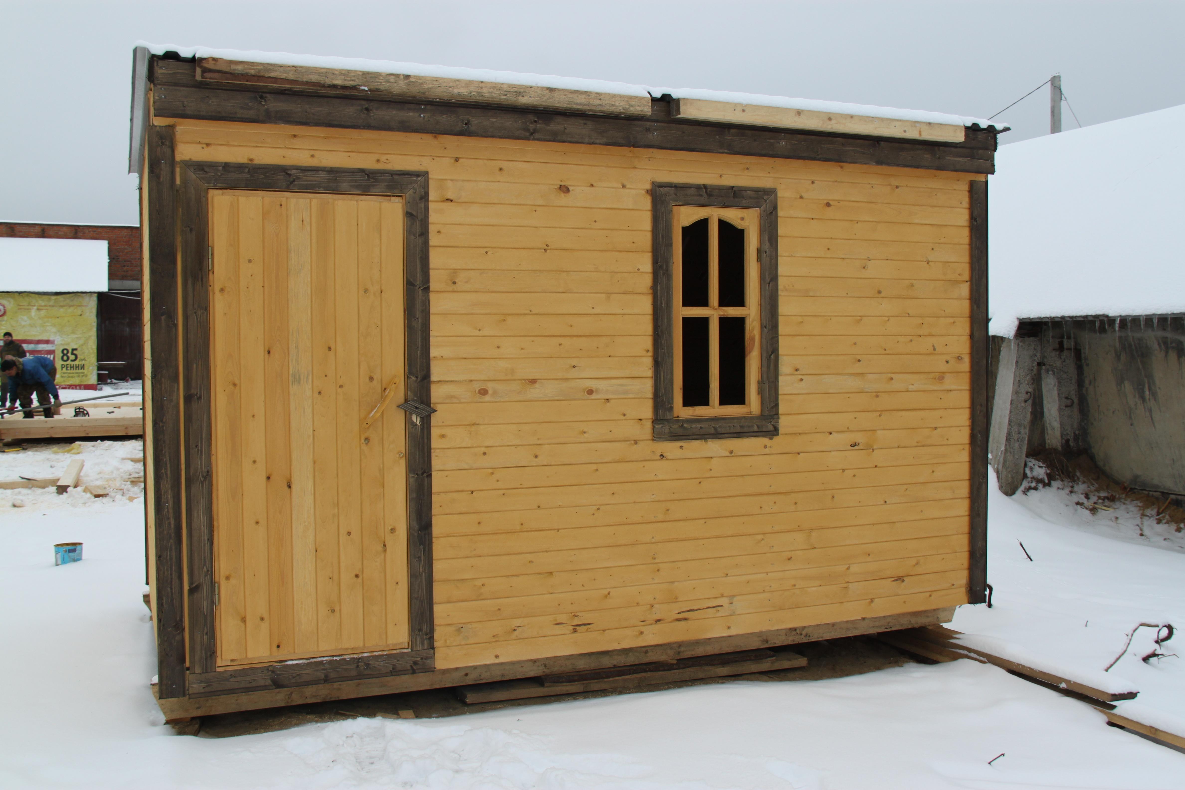 Деревянная бытовка дачная 5x2,3 м БД-00