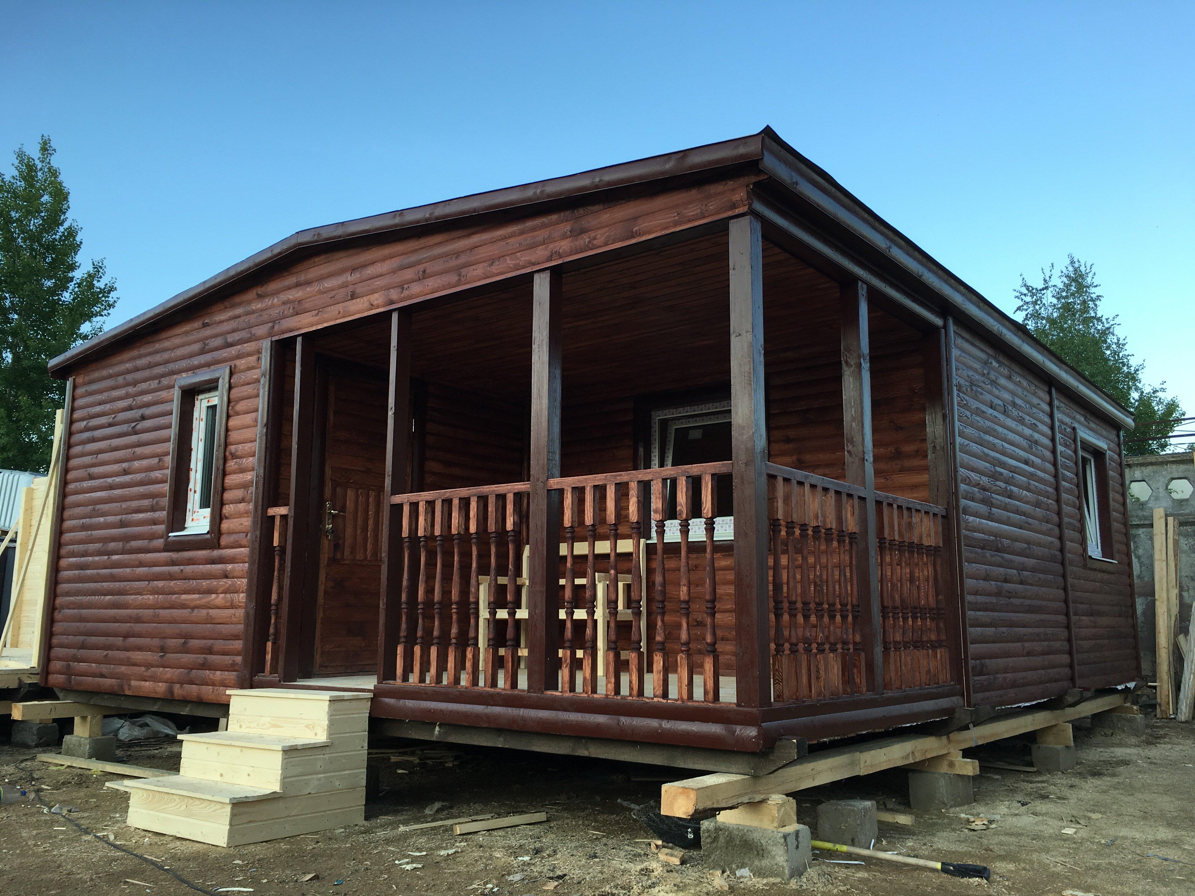 Дом для дачи с двумя комнатами и большой гостиной 6x6,9 м «ВАЛЕНСИЯ»