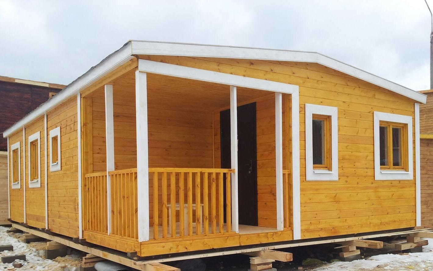 Модульный садовый домик для дачи 6x7 м «ЛЕГИОН»
