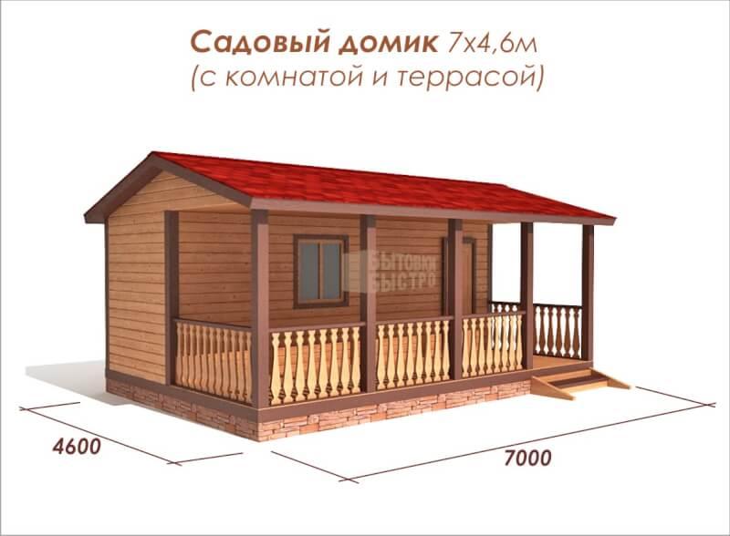 Дачный домик Женева 7x4м