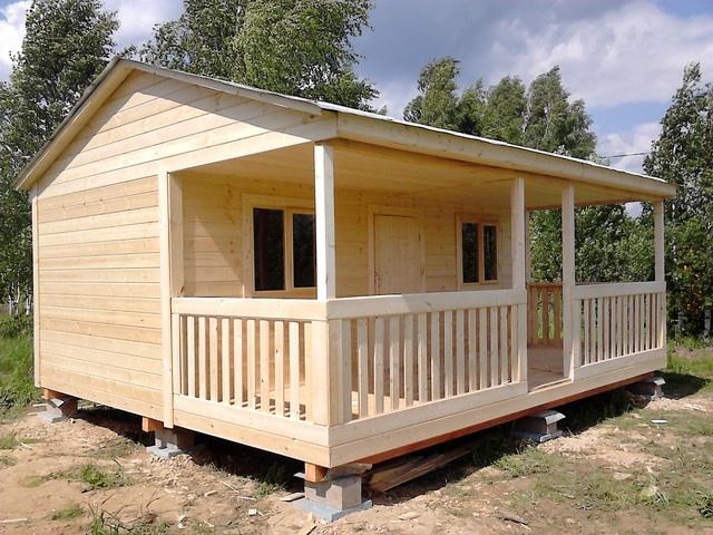 Садовый домик с большой террасой 7м