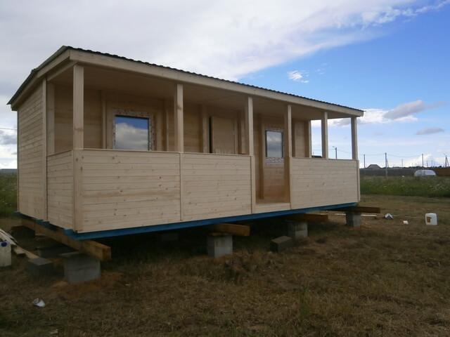 Садовый домик с комнатой и террасой 6x4,6м Люксембург